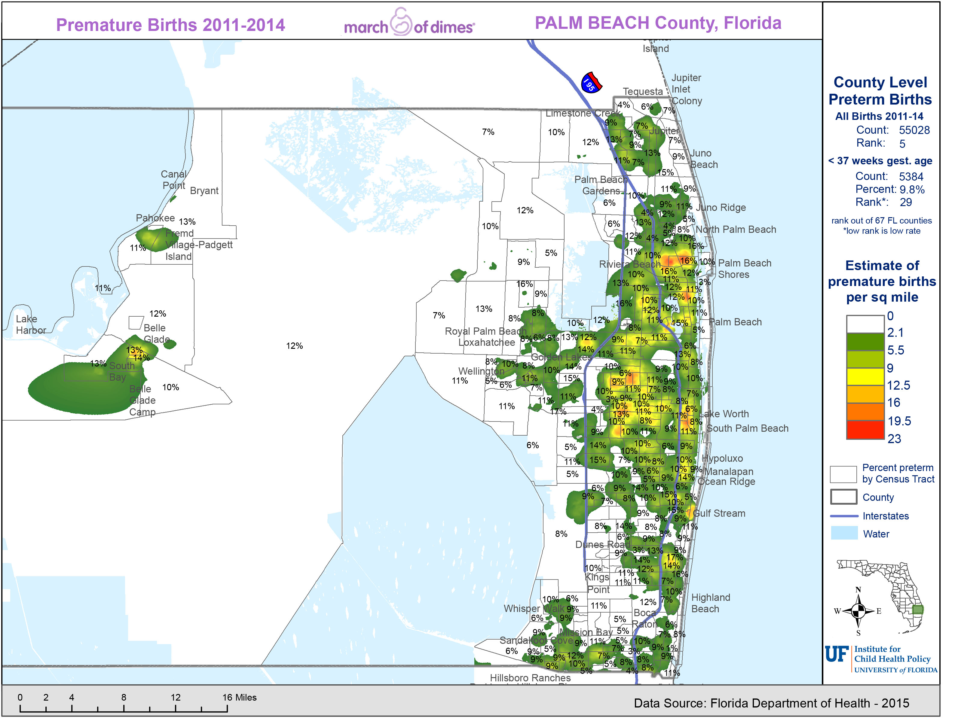 Maps of Florida\'s Hotspots for Premature Births » Institute for ...